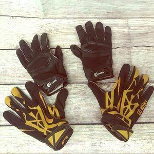 Nike Football Gloves PLUS bonus pair of Cutters